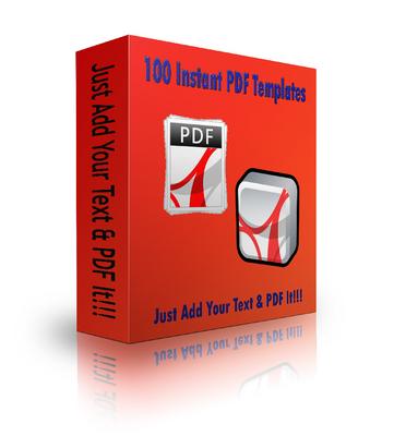 Product picture PLR 100 Instant PDF Templates